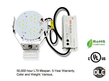 DLC LISTED RETROFIT KITS FOR HIGHBAY, SHOEBOX AND WALLPACK FIXTURES