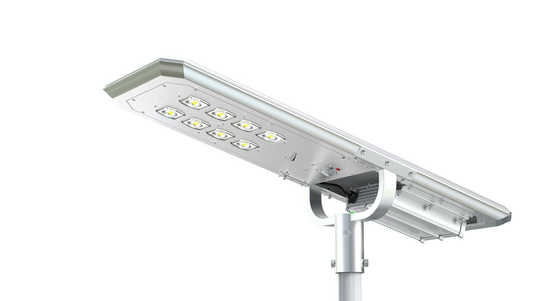 6000 LUMEN SOLAR POWERED LED LIGHT FIXTURE